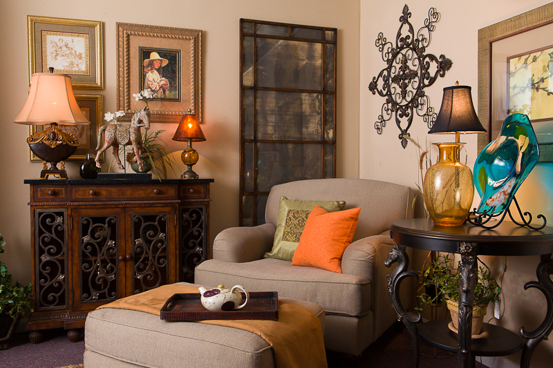 Designer Consignment-March Vignette Furniture and Decor Ideas