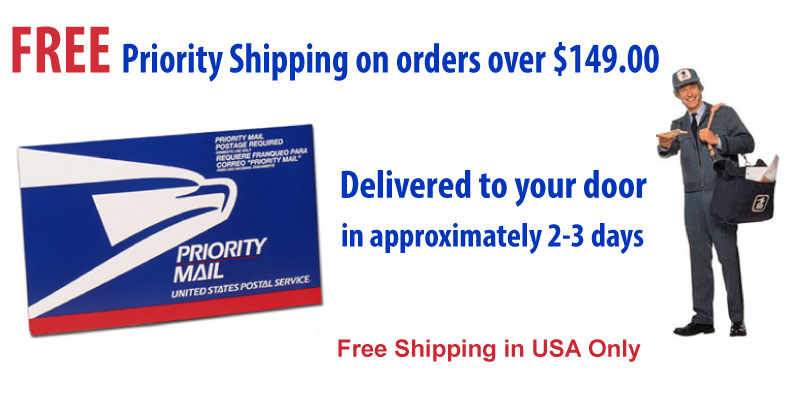 Free Priority Shipping in USA