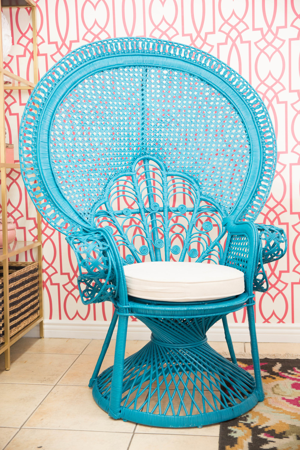 An Ordinary Desk Chair Was Not Option This Boho Beauty Had To Do A Turquoise Peacock Fiona Written All Over It