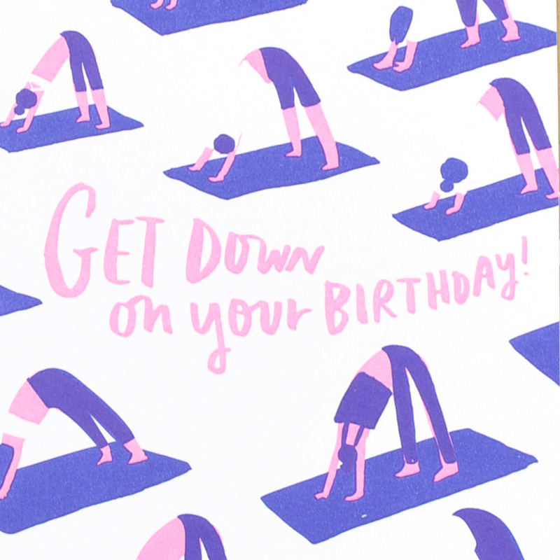 Yoga Birthday Card The Soul Project