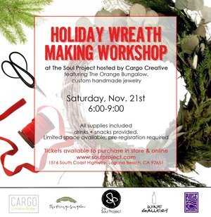 Workshops the soul project wreath postg holiday wreath making workshop stopboris Images