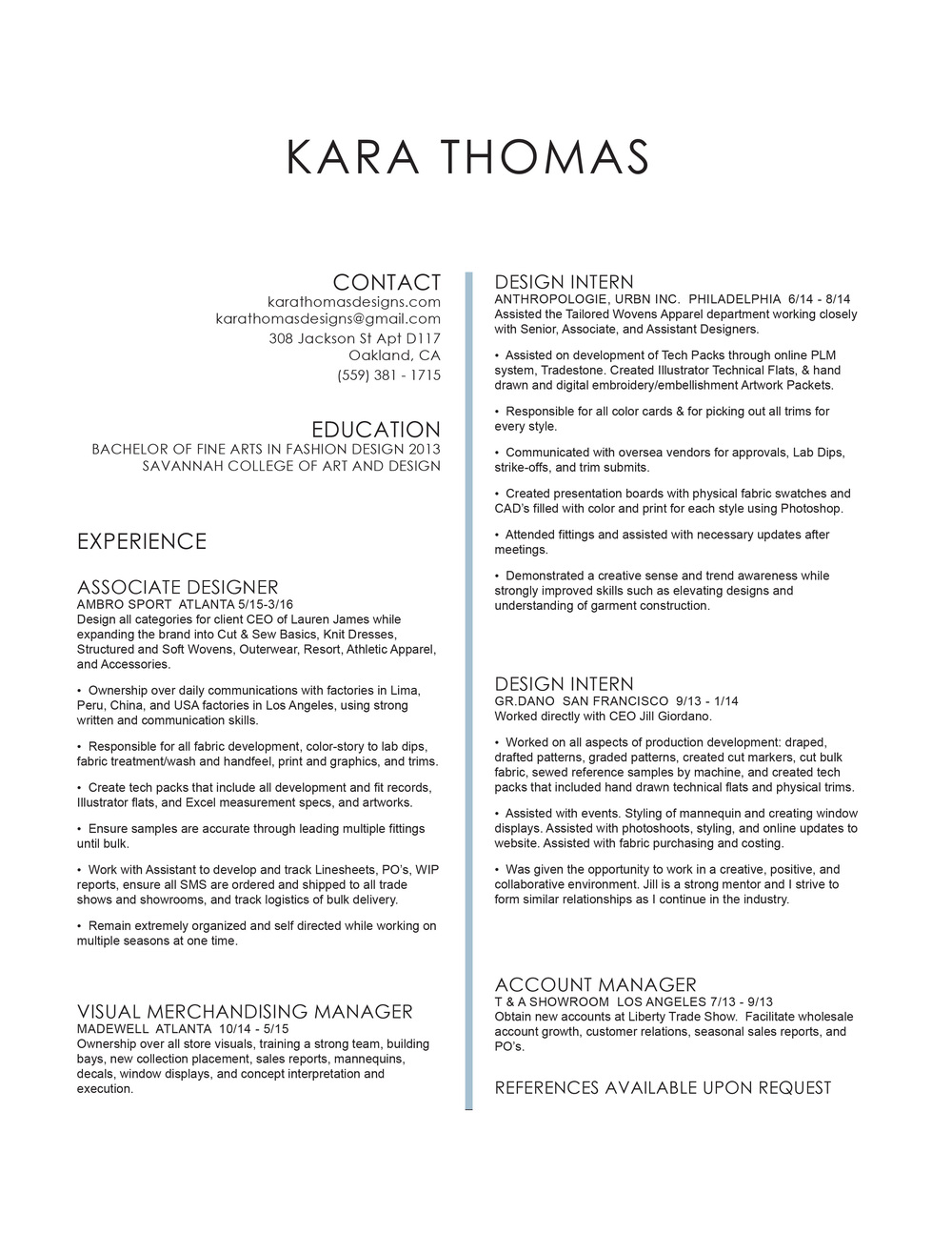 Click on Image of Resume to download PDF