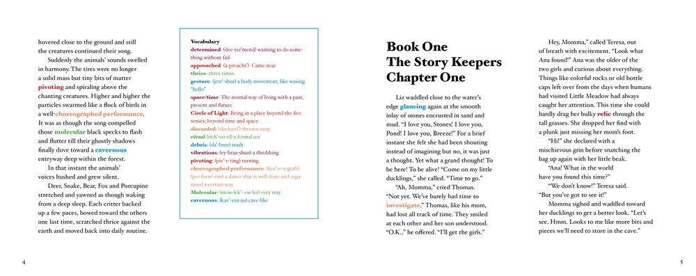 Click to enlarge — Prologue (continued) & Book One: Chapter One