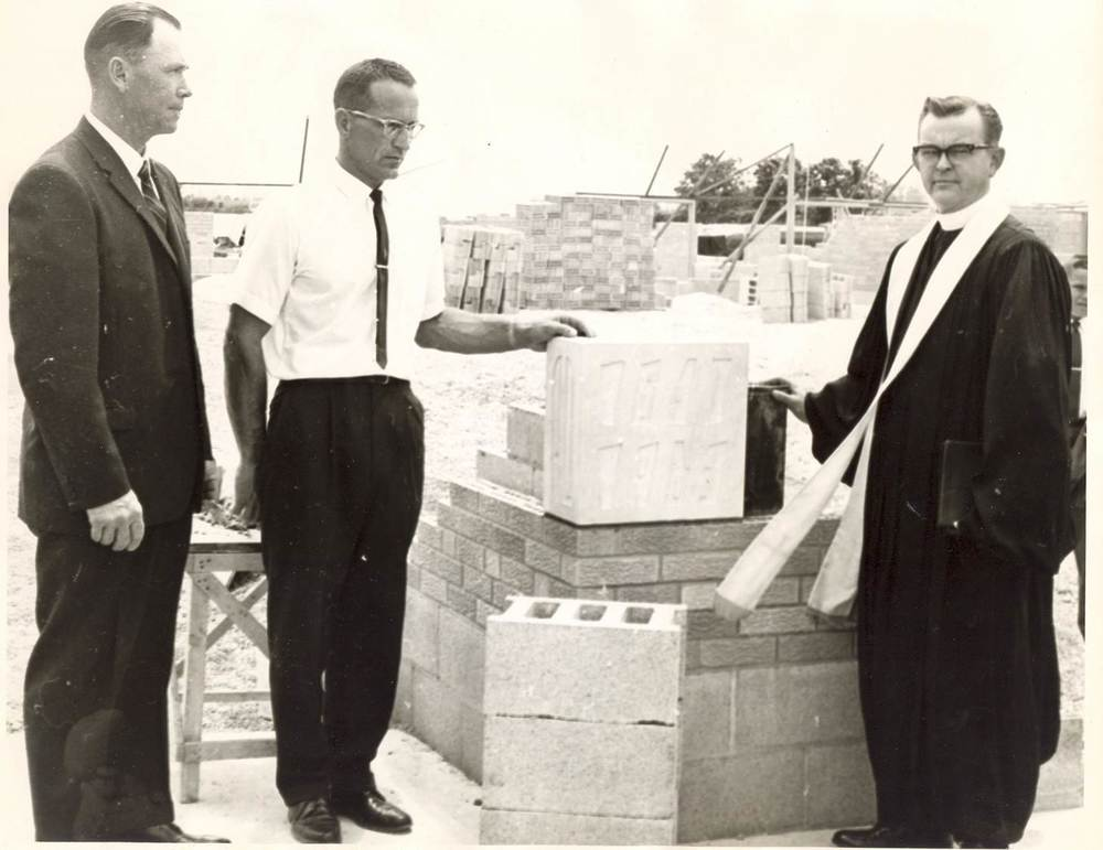 Laying of Cornerstone, June 16, 1963.