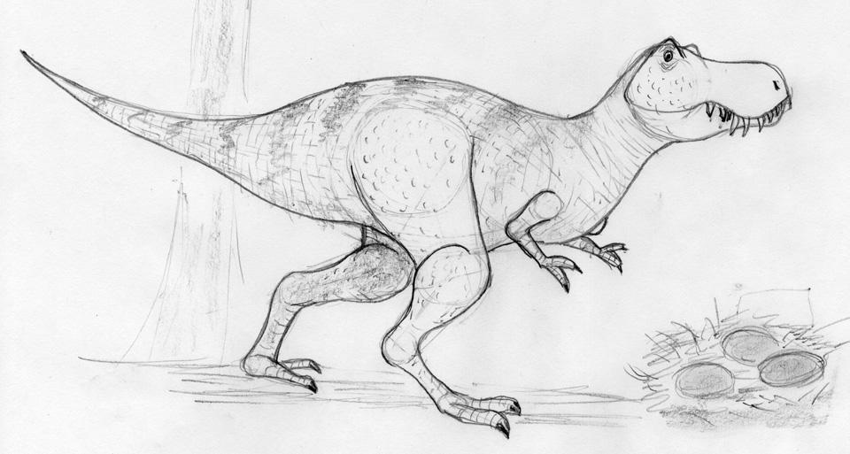 Jessica's T. rex.
