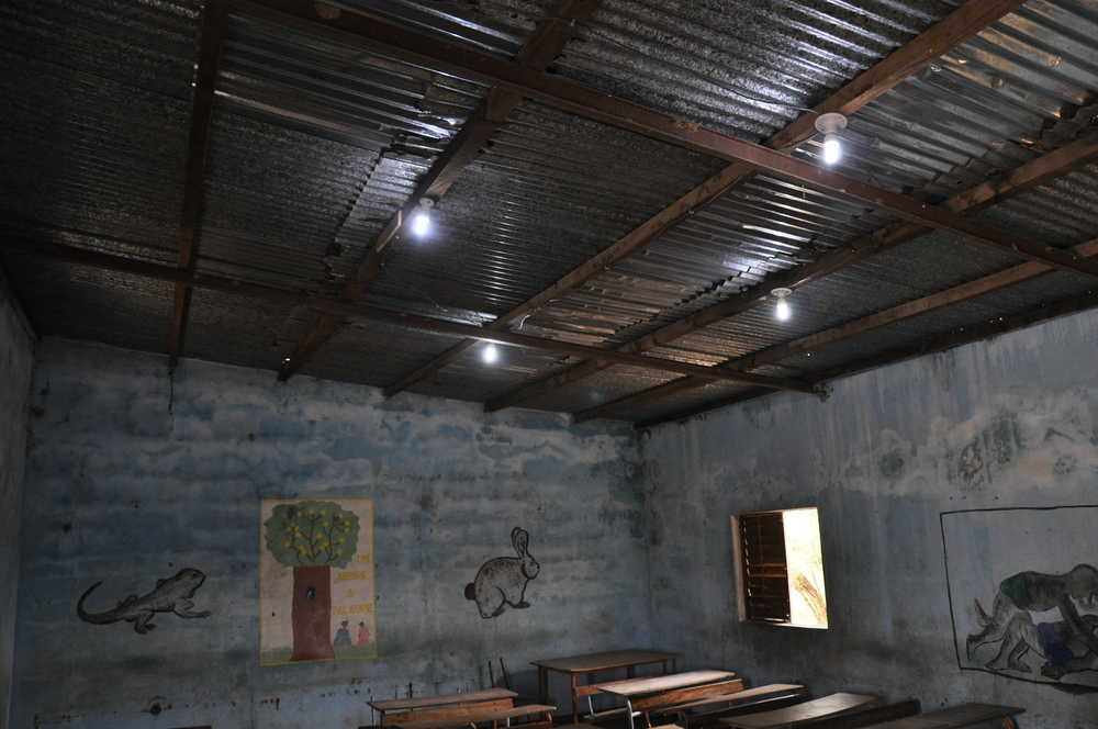 LED lighting installed in the classrooms