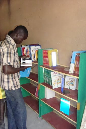 Setting up the school lending library
