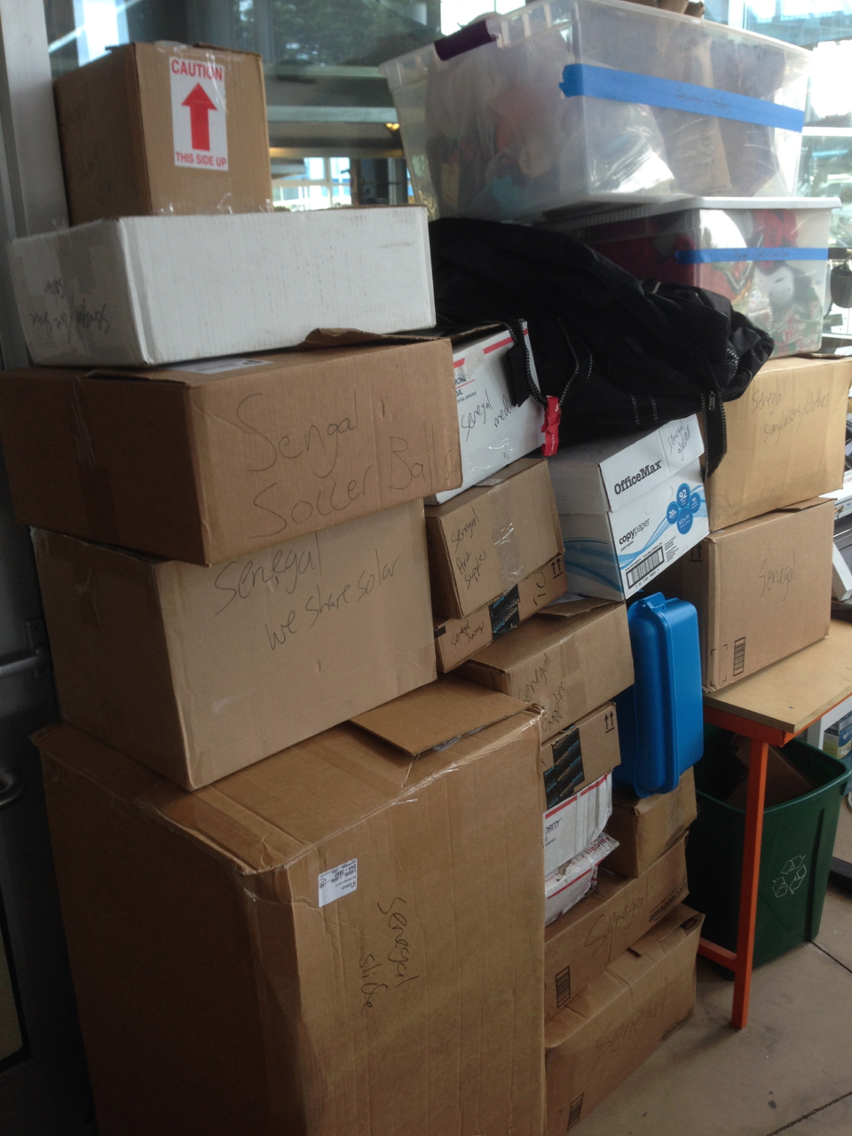 Donations and Parts are piling up in our office!