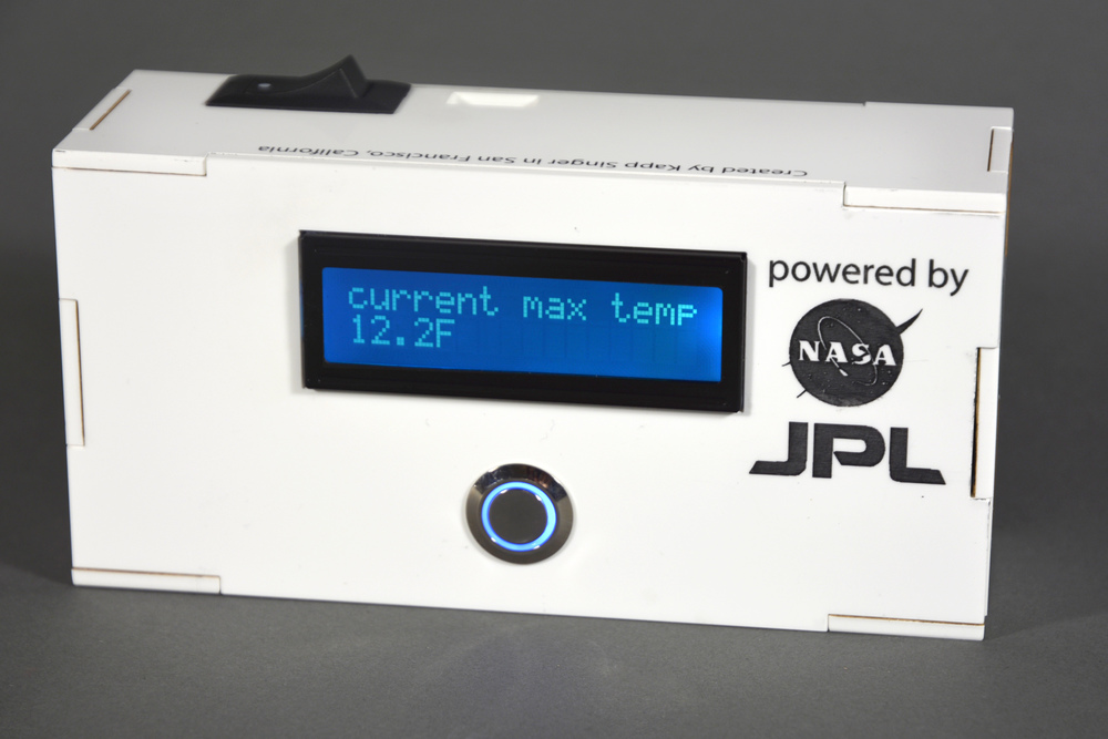 Kapp's martian weather monitor used NASA's  mars rover API  to get the current conditions.