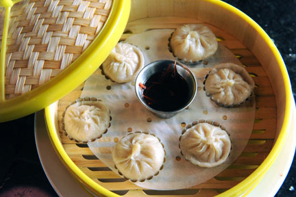 Steamed dumplings  BY JOHN ANDERSON