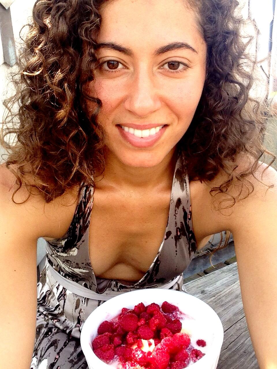Raspberry Breakfast Selfie! ©DrNikkiNoce