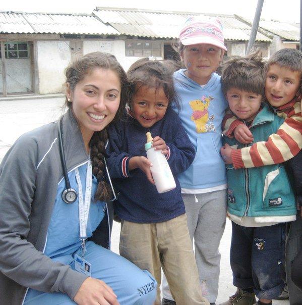 Dr. Nikki Providing medical care in the mountains of ecuador, 2010