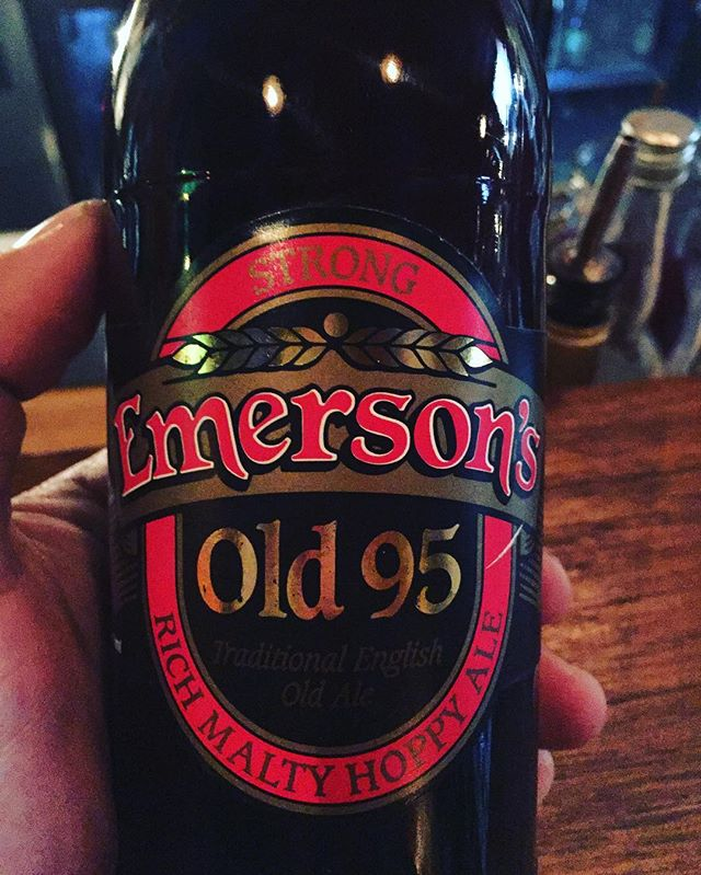 One from the cellar ! 2007 Emersons Old 95 - no longer brewed but my all time favourite from Emersons, 9 years on - huge stone fruit flavours balanced with (oxidised) sherry like character - wish I had more