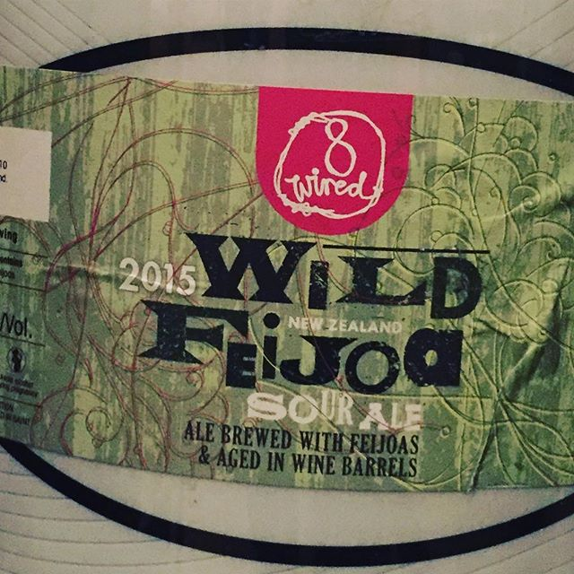 Cheeky 20L keg of @8wiredbrewing Wild Feijoa Barrel aged sour waiting in the cool room for Saturday night Session @perthbeerfest only @maneliquor stand
