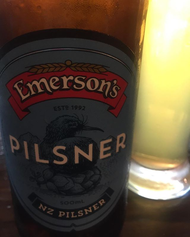 Just arrived back in NZ, was really excited to see this in the fridge until I poured it and realised just how much things have changed please bring back the original Emersons Pilsner... (not talking about the label) #wheresthehops