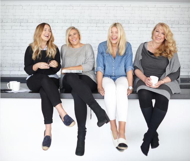 The alyce alexandra founding team - Loryn, Alyce, Ellen and Janene