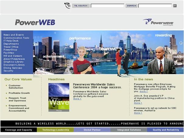 Powerwave homepage