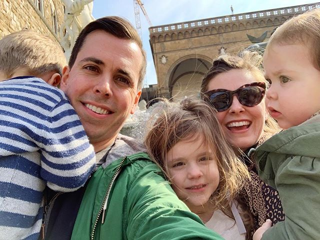 Arrivederci, my lovely Italy! 🇮🇹 See you next time! 👋🏻 If your family pictures don't look like this on vacation, well... I don't know how you are pulling it off, but kudos to you! 😂 As ridiculous as it is, I still kinda wanna frame it because it's actually perfect to me.  #nailedit 😉 #FlorenceKnights #ItalyKnights  #havebabywilltravel #aspiringkennedytravel #honestmotherhood #wearetravelmums #exploretogether #exploringfamilies #europeantravel