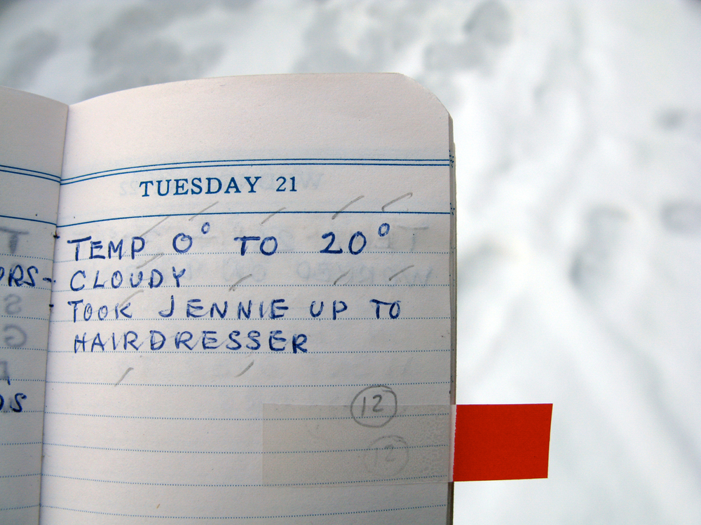 "Example of accidental Haiku poem ""Hairdressers"" in the diary"