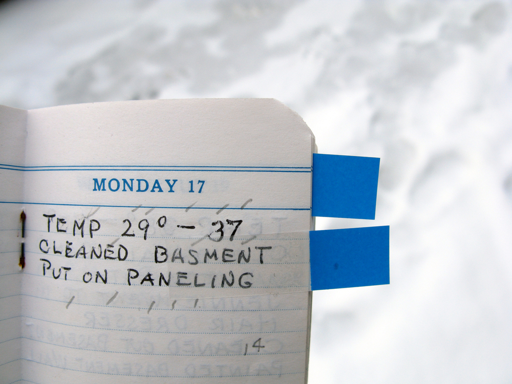 "Example of accidental Haiku poem ""Panelling"" in the diary"