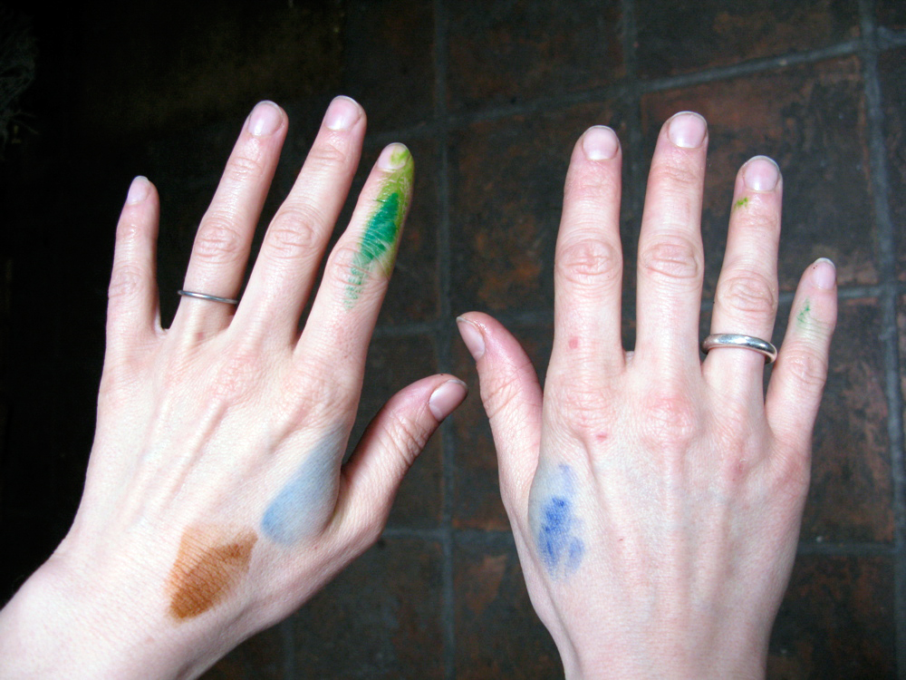 "In Northern Ireland we painted our fingers before going out. In case anyone asked what we were doing there we planned to say ""watercolour painting""."