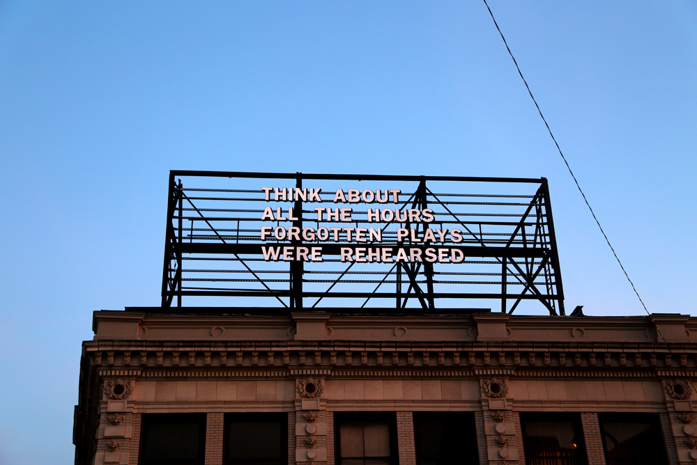 "My work up on ""The Last Billboard"", June 2014, curated by Jon Rubin."