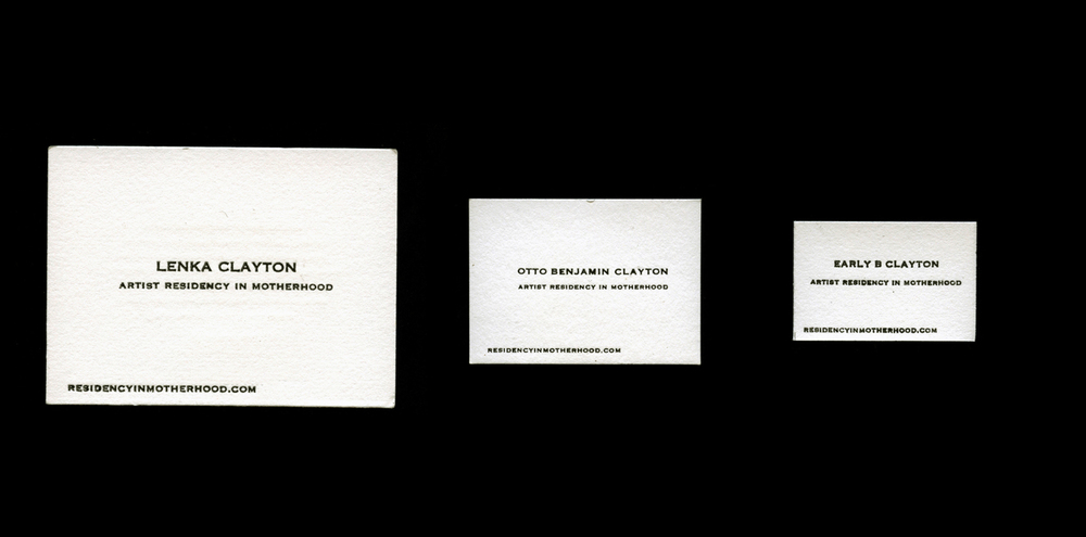 Business cards for myself, son Otto (born 2011), and daughter Early (born 2013)