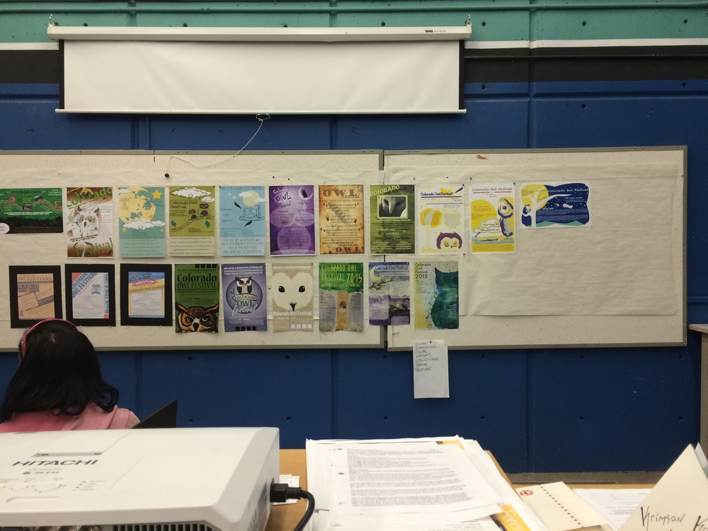 Critique of our posters. Mine are the Three on the bottom right