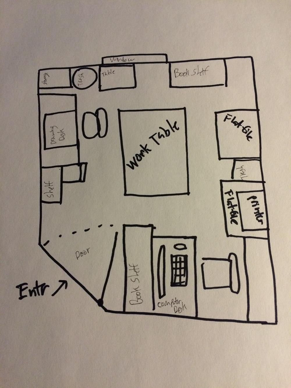 Floor plan of my studio!