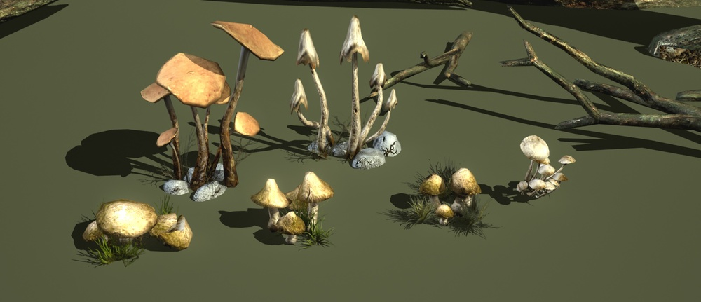 But this island is tripping mushrooms.