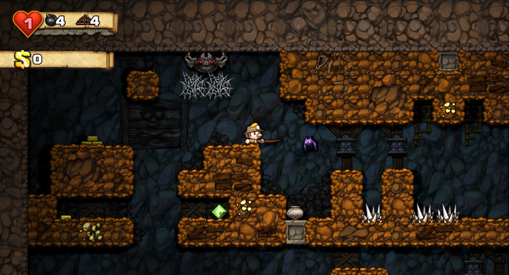 Here comes the real danger. Suck it, Spelunky!