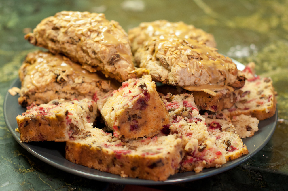 Sliced Bread and Oatmeal Scones