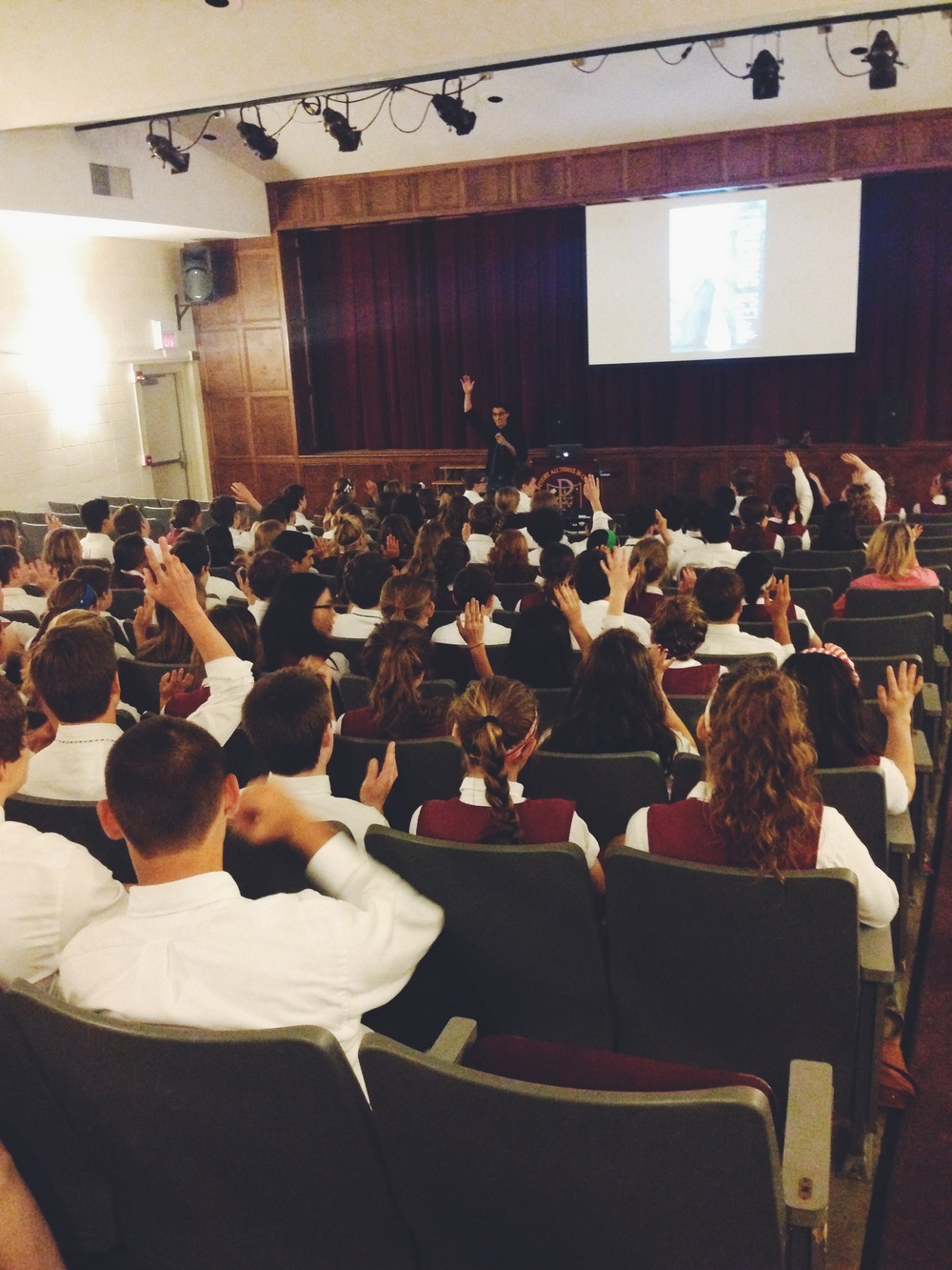 Screening at Bishop Watterson High School, Ohio