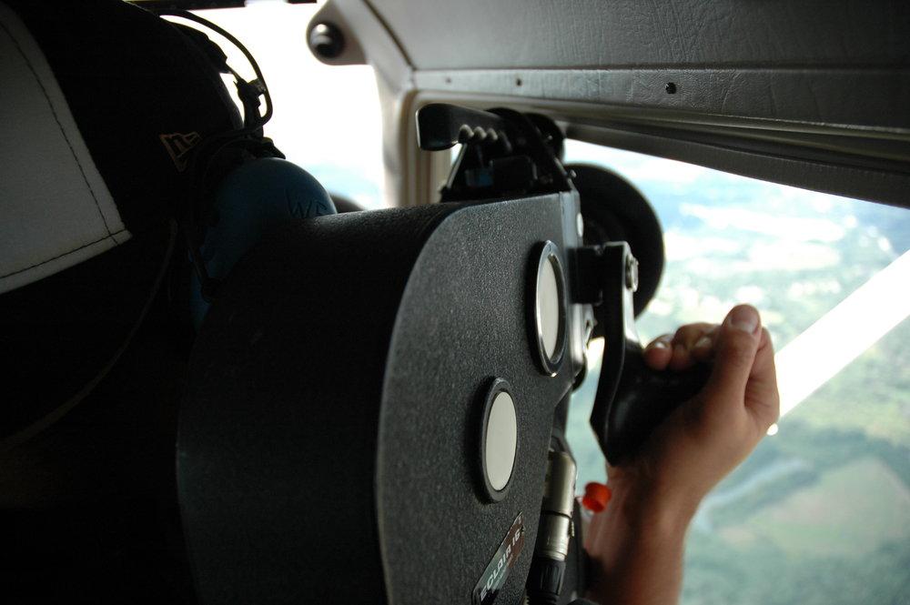 "Matt Boatright-Simon shooting over rural Wisconsin for ""Let Be""."