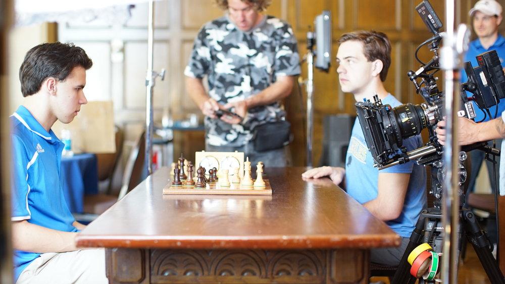 Luke Harmon-Vellott on set for Optimists 4.0 for 160over90. Director Matt Boatright-Simon