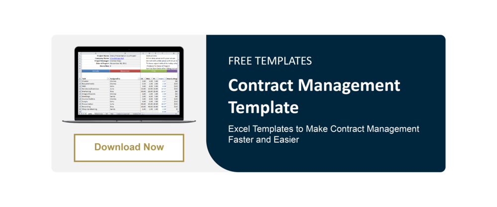 Contract Manager Template