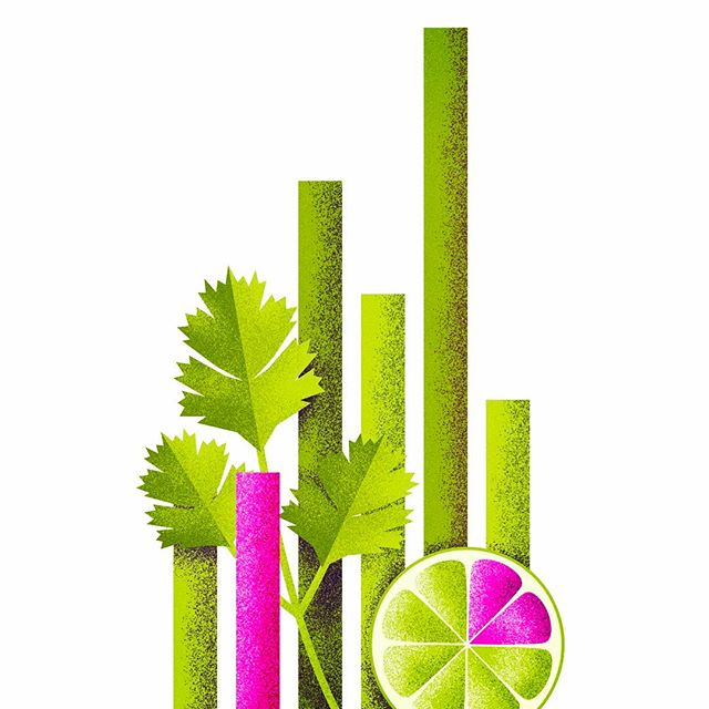 Cilantro, Lime & Data. Part of a piece we created for GumGum and Taco Bell. Look out for more illustrations from this project soon!