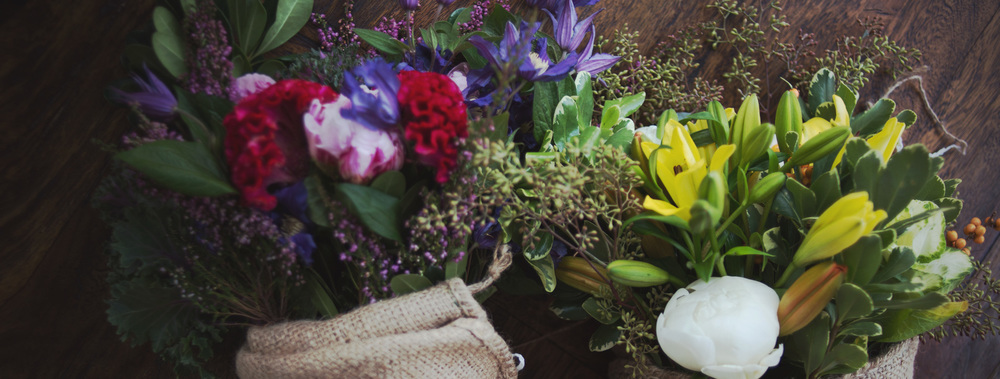 Bouquets and vase arrangements from