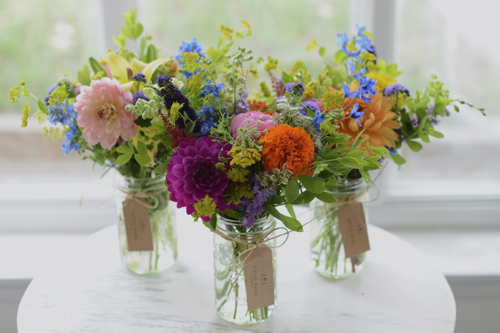 Learn all about where our flowers come from and how to make them look their best, all while sipping bubbly and enjoying yummy local nibbles.  For more information about upcoming classes please email alix at littleacreflowers.com.