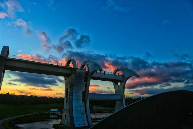 Falkirk Wheel at Sunset -  Flickr