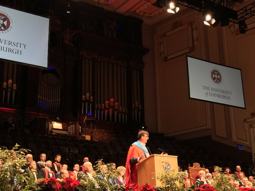 Professor Bruno Labour's speech after receiving an honorary degree.