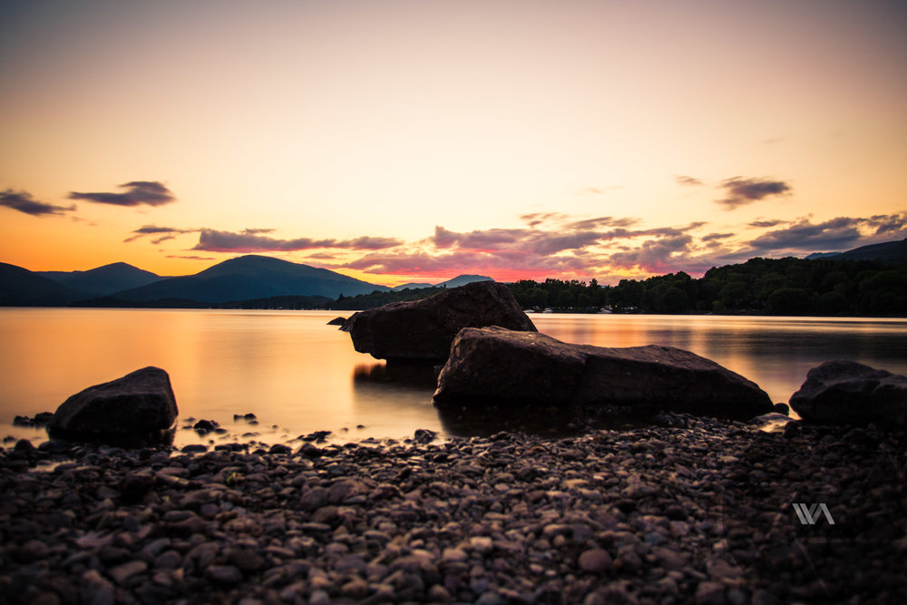 Sunset at Loch Lomond