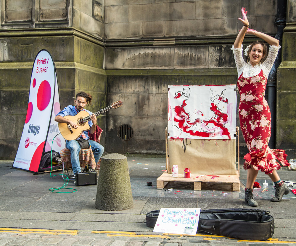 Flamenco dancing and painting