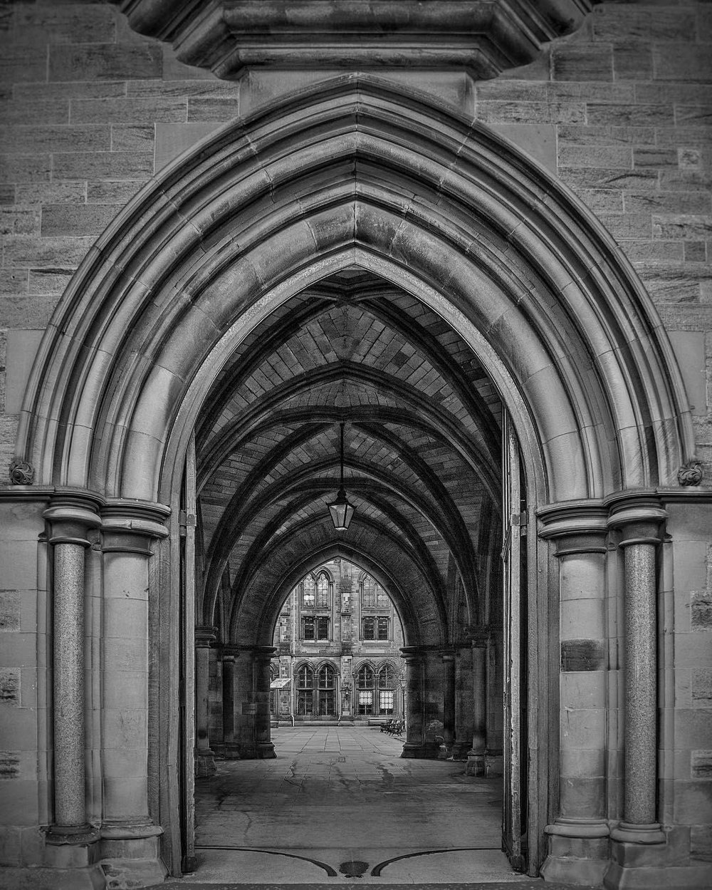 The Archway - A view from the Archway to the Quadrangle.