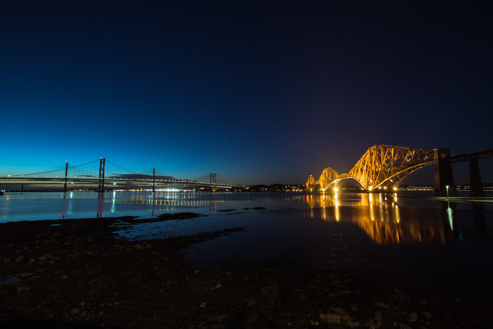 The three Forth Bridges at South Queensferry