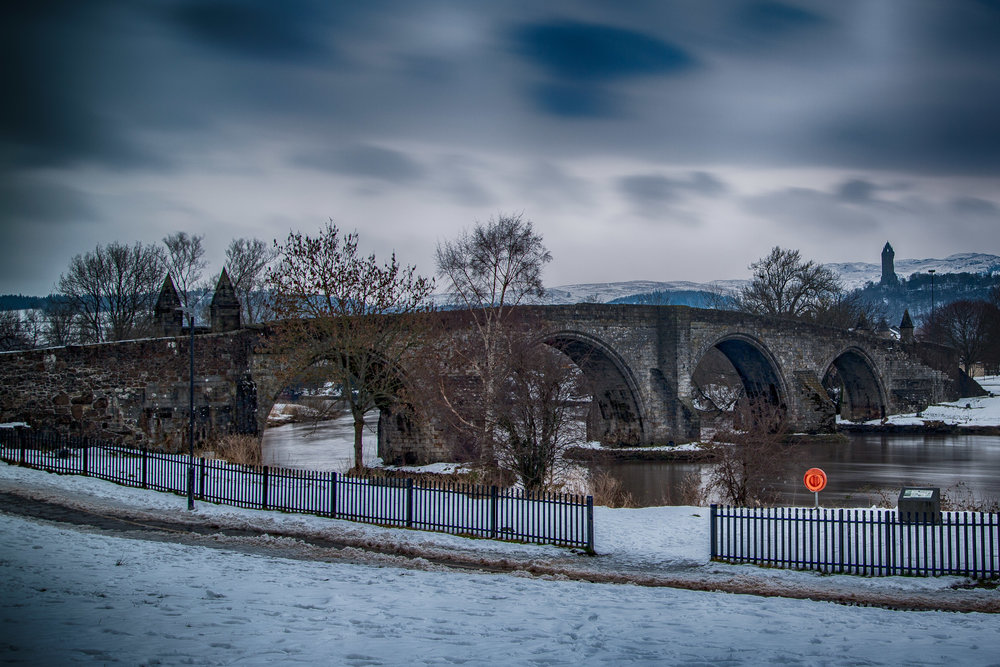 The Old Stirling Bridge and Wallace's Monument