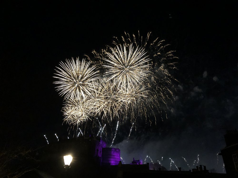New Year Fireworks at Edinburgh Castle