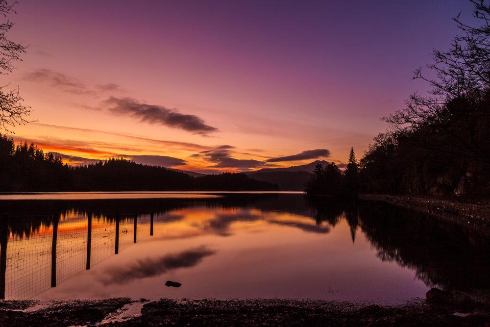 Loch Ard at dusk