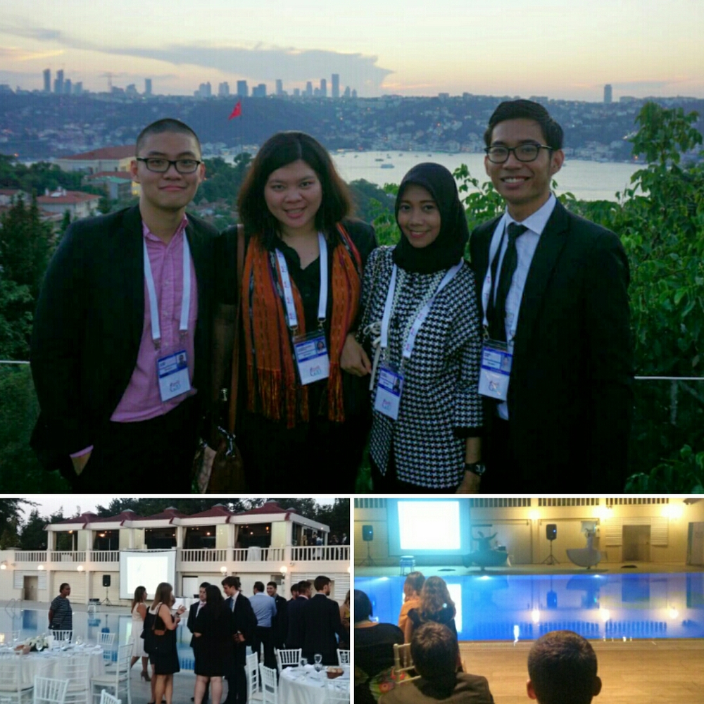 Indonesian delegation at the Y20 welcome dinner
