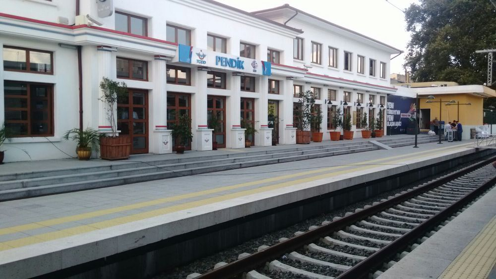 The high-speed train station in Pendik, Istanbul.